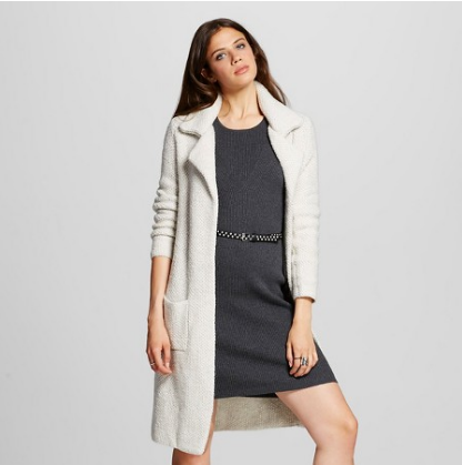 Emily Essentially | Fashion | Target - Mossimo Sweater Coat