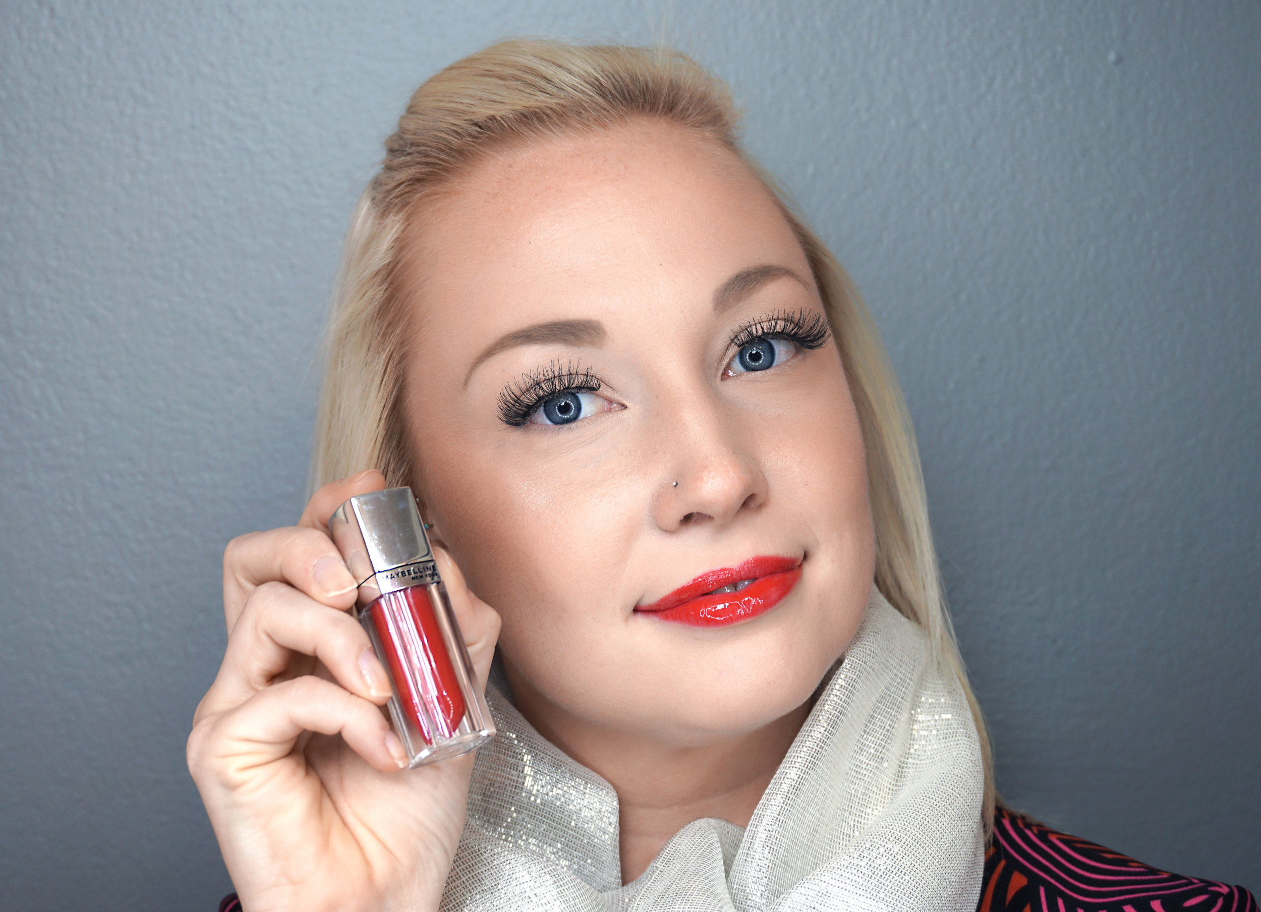 Emily Essentially   Beauty   Best Holiday Red Lippies - MAYBELLINE - Signature Scarlet