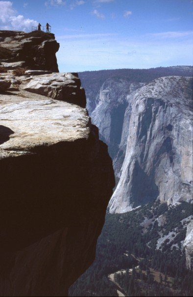The Armchair Mountaineer at Taft Point, Yosemite National Park