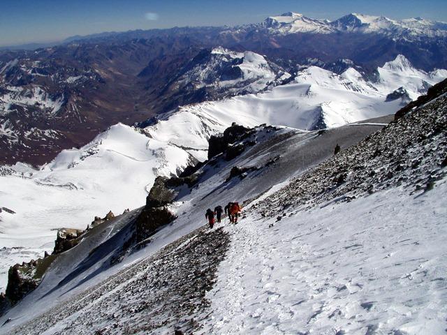 Climbing Aconcagua.