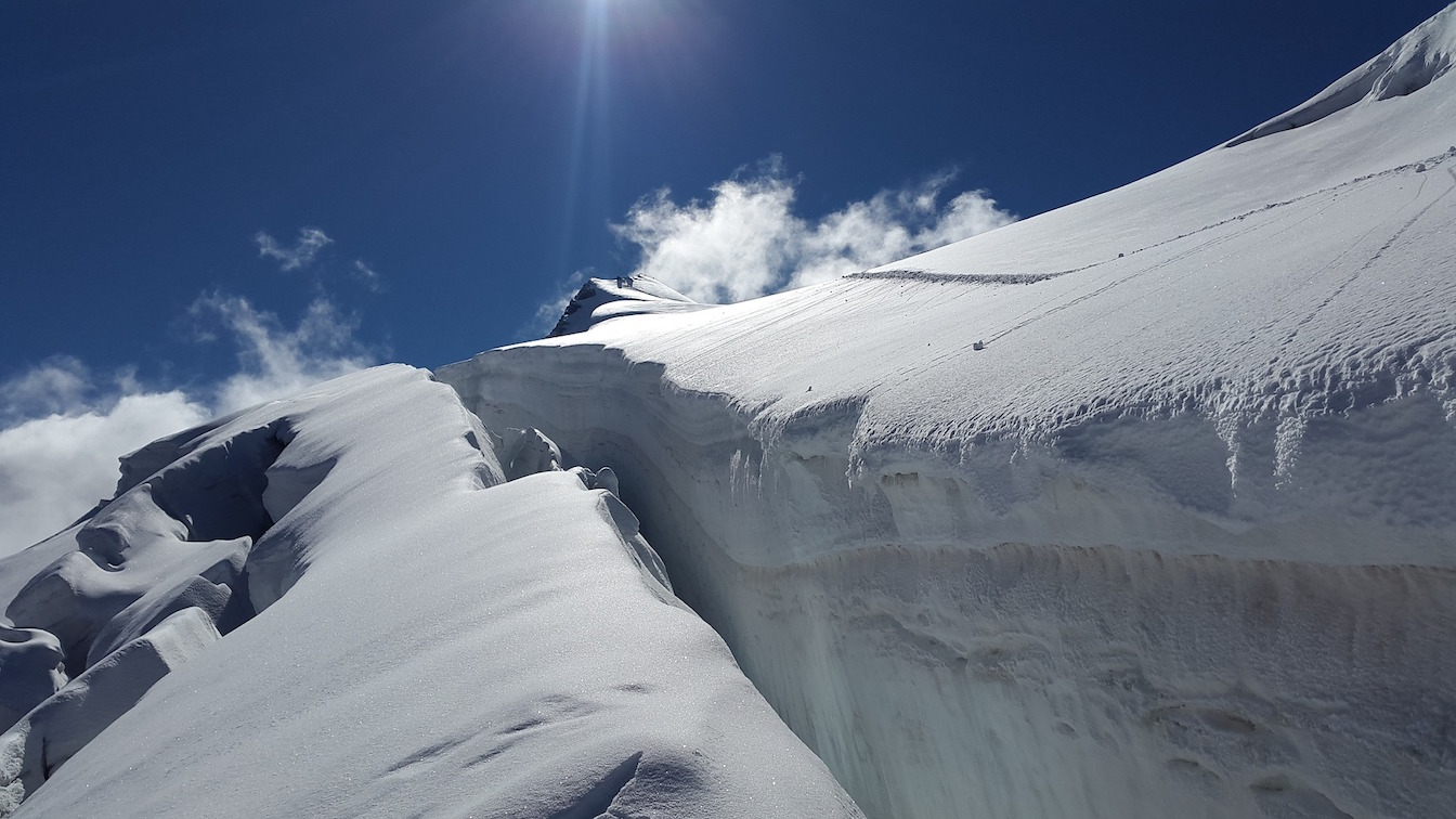 What is a crevasse