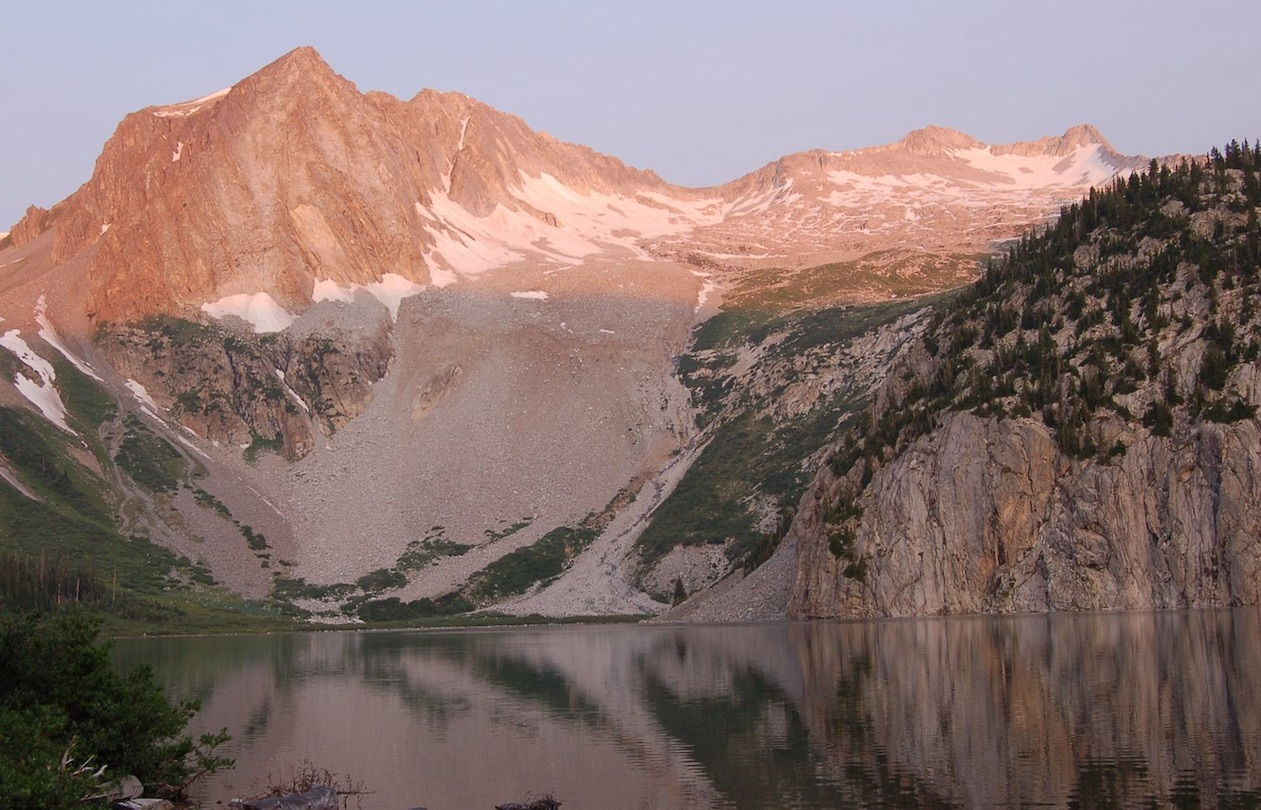 Hagerman Peak on the left and Snowmass Mountain on the right.