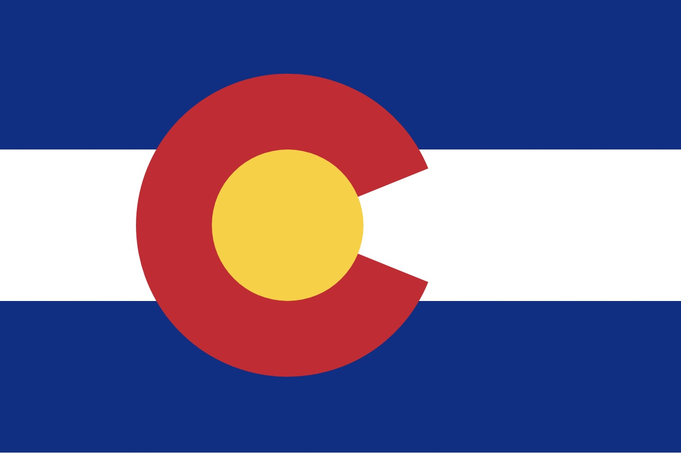 The flag of the State of Colorado, USA