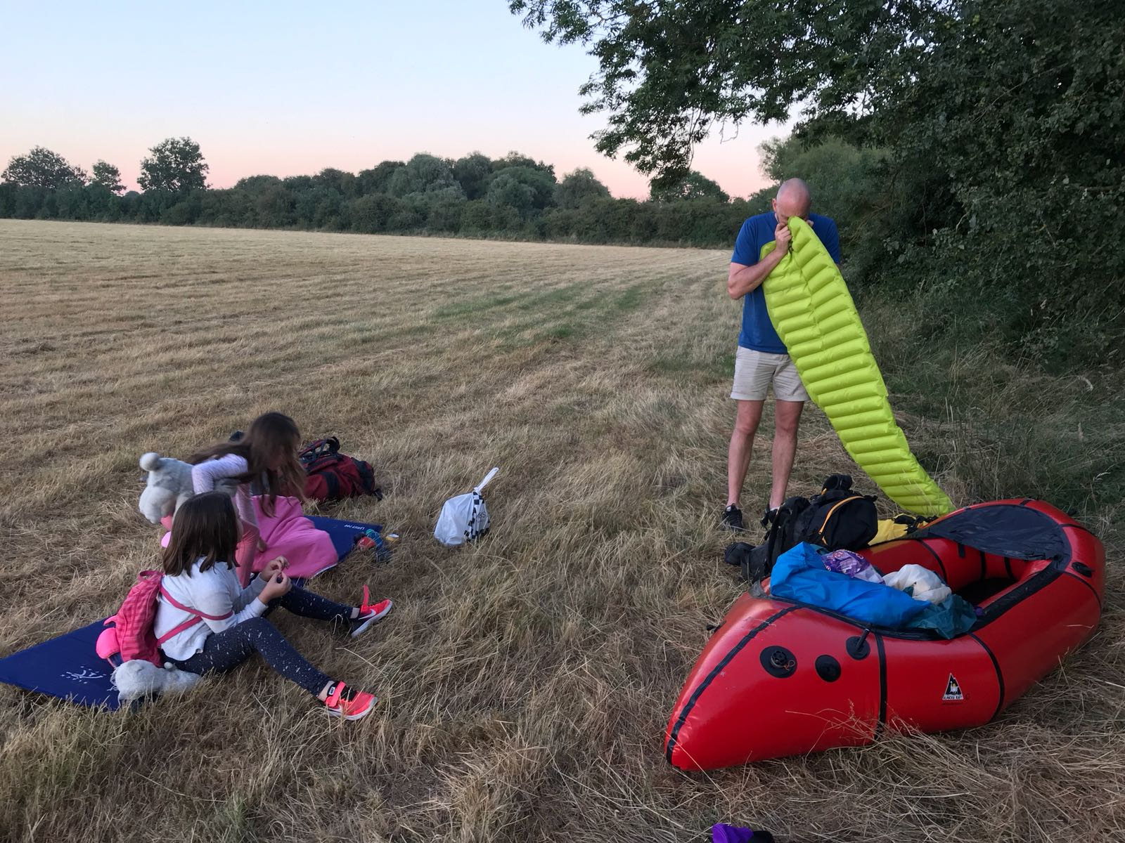 wild camping with children