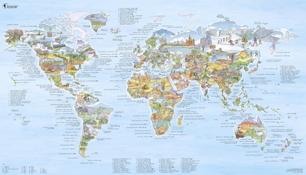 world map hiking walking trekking wall map.jpg