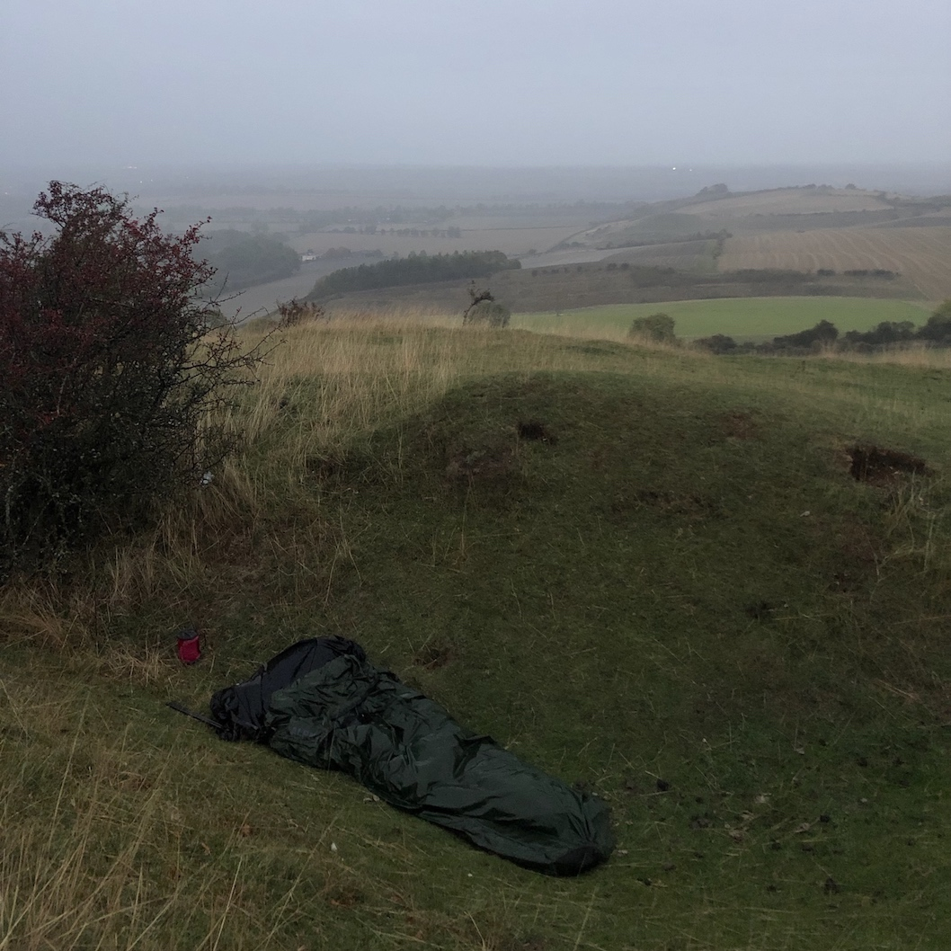 wet bivvy bag camping rain hiking.jpg