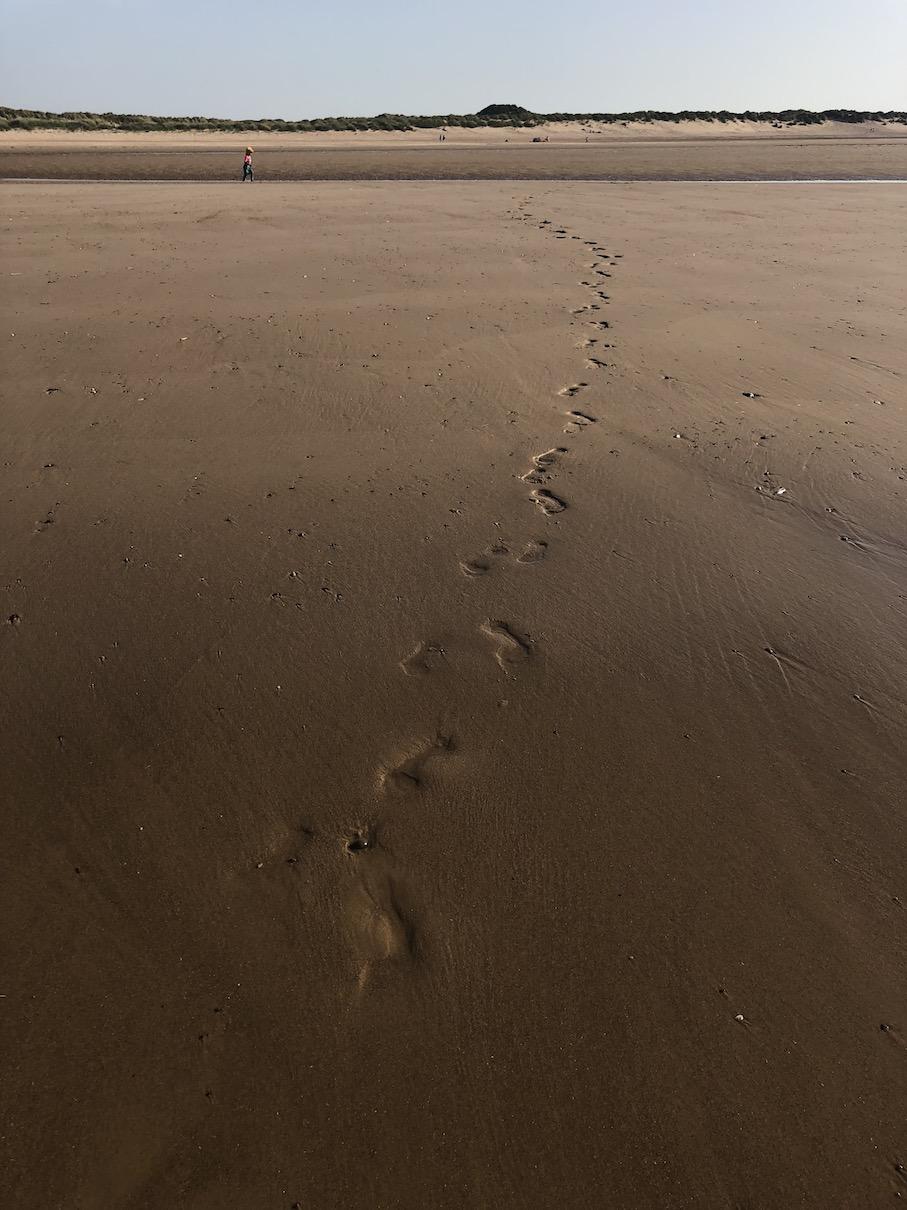 beach footsteps coast path walking hiking wild camping.JPG