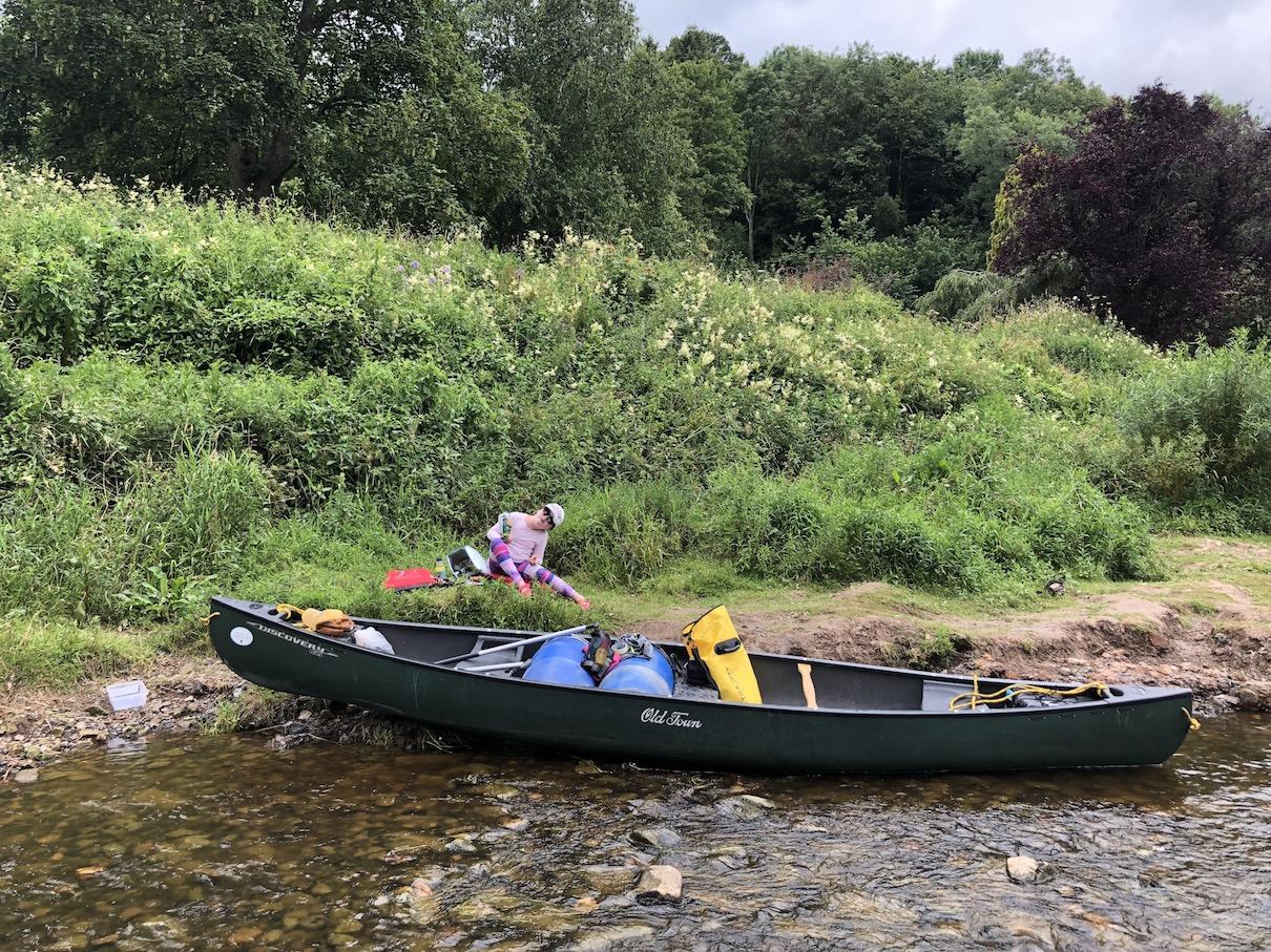 canoeing wye river symonds yat ross on wye hoarwithy kayak canoe camping adventure drone footage.JPG
