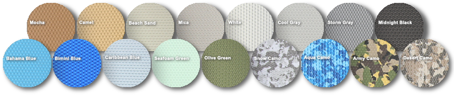 SURFACE TEXTURES    Most SeaDek colors are available in either embossed micro-dot or smooth brushed texture.