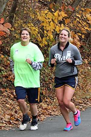 Carol, along with other community members (such as Janie DeVaul shown here) and the National Center of Excellence in Women's Health, organized the first 5k run through Mannington streets.They wanted to provide an opportunity for people in Mannington to be active and make friends through the 5k race.