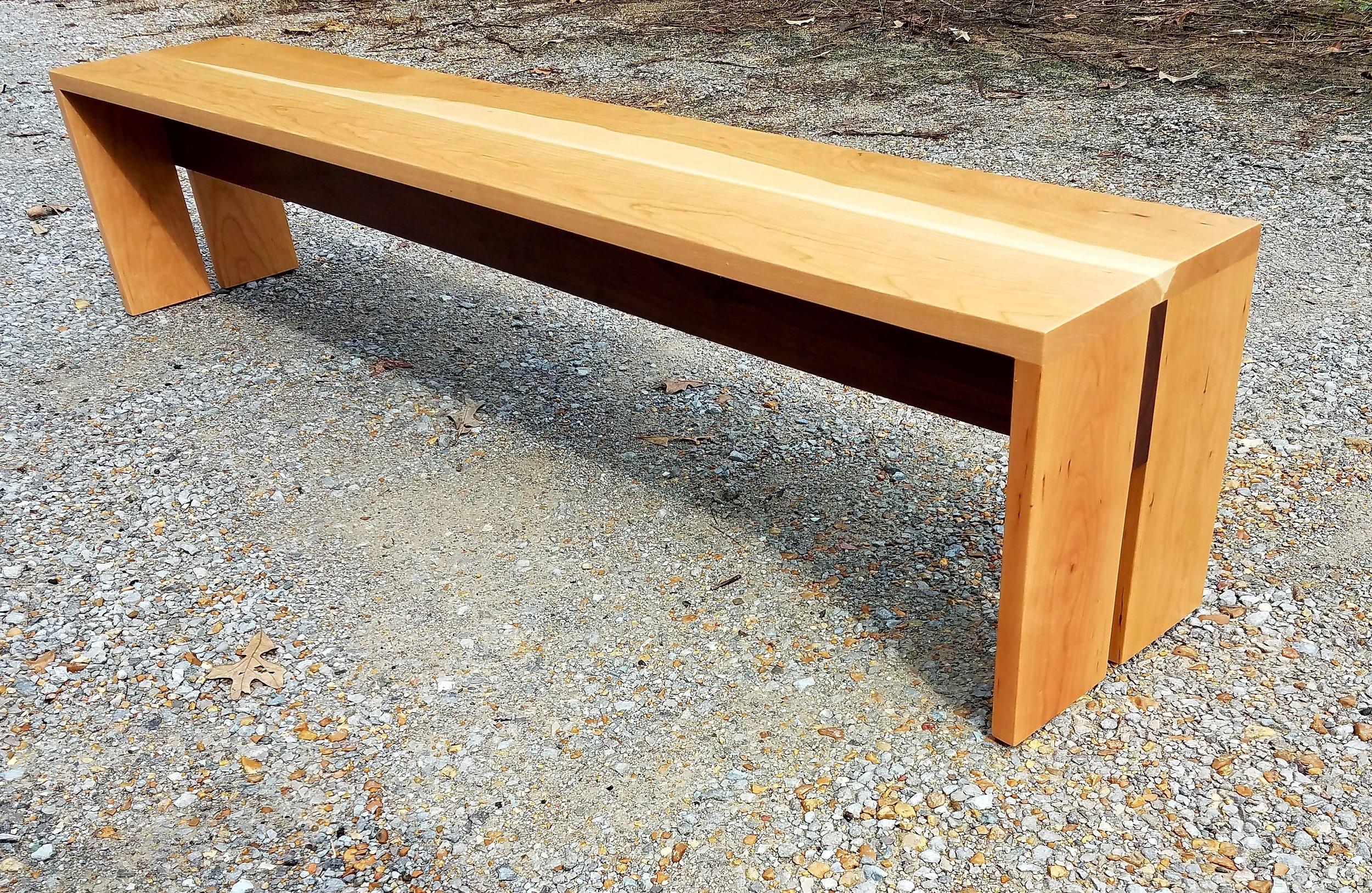 Copy of Solid Cherry Bench with Black Walnut Stretcher