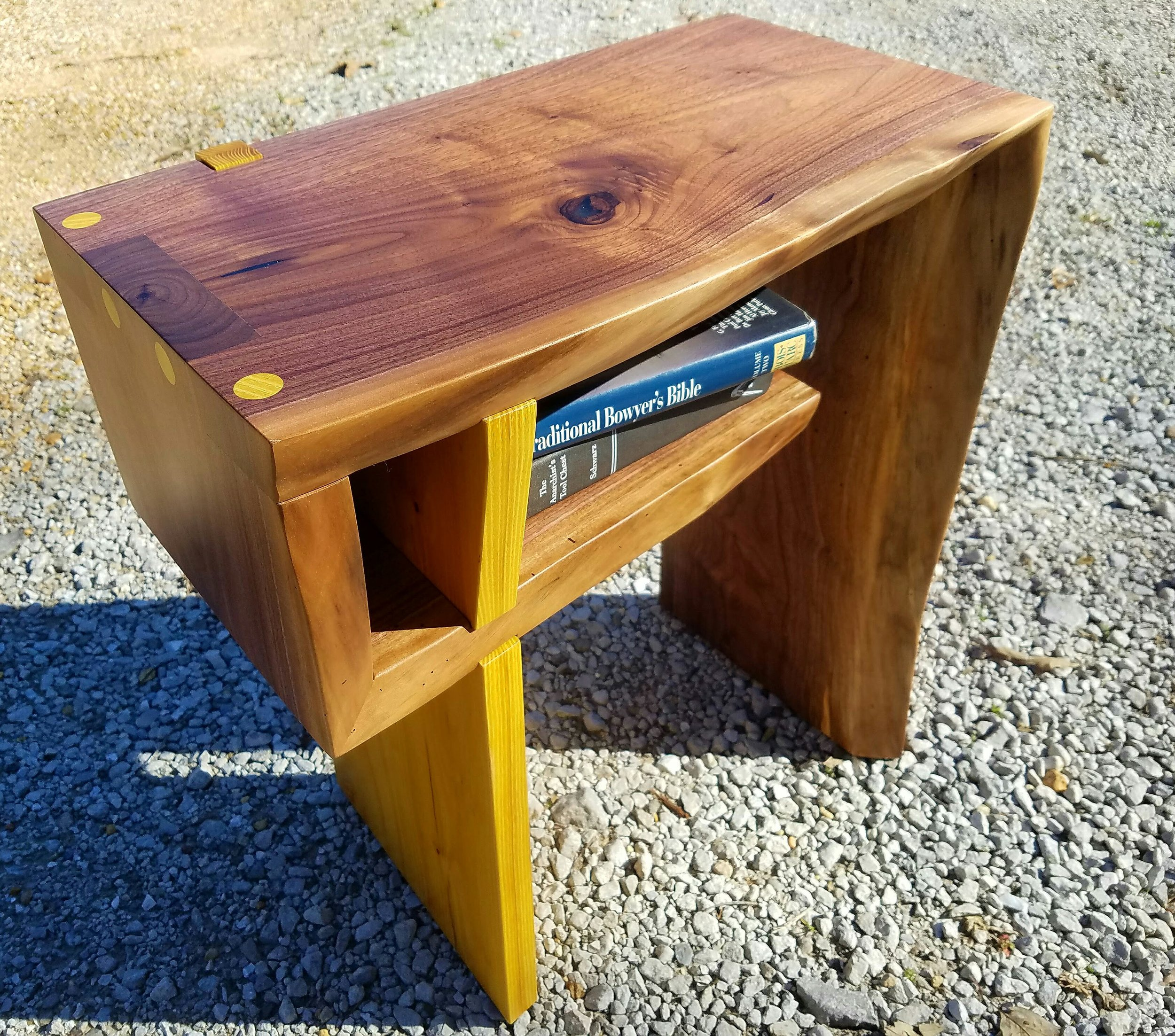 Copy of Walnut and Osage Orange Side Table