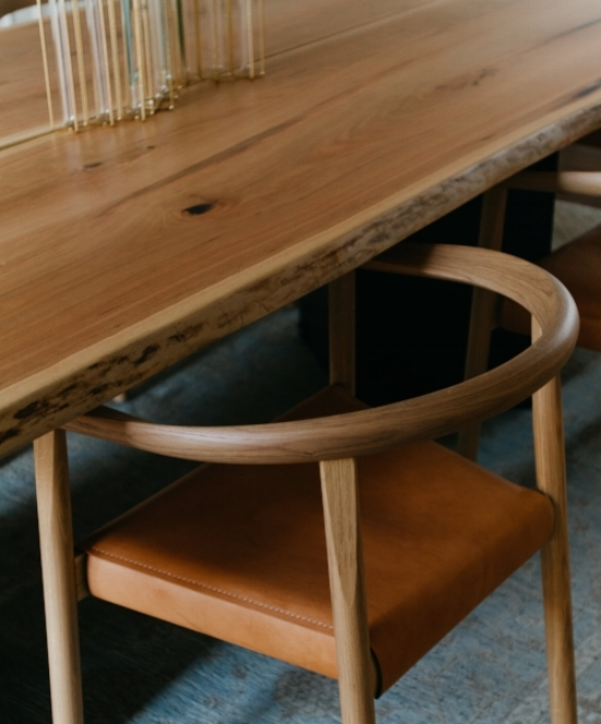 Dining table by John Haltom of Roxie Woodworks