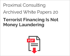 Archived White Paper  20: Terrorist Financing Is Not Money Laundering