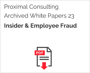 Archived White Paper  23: Insider & Employee Fraud