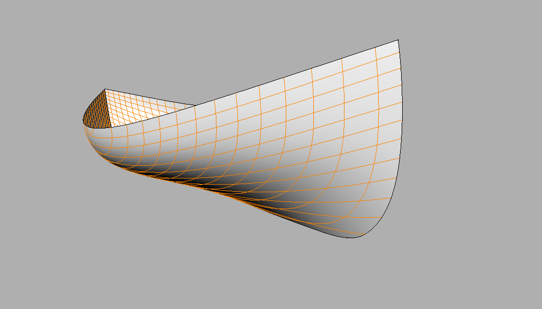 An early model of the Bobby hull being 3D modeled in Rhino