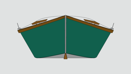 The flare of the Echo Bay makes her uniquely stable and seaworthy for a 12' skiff.