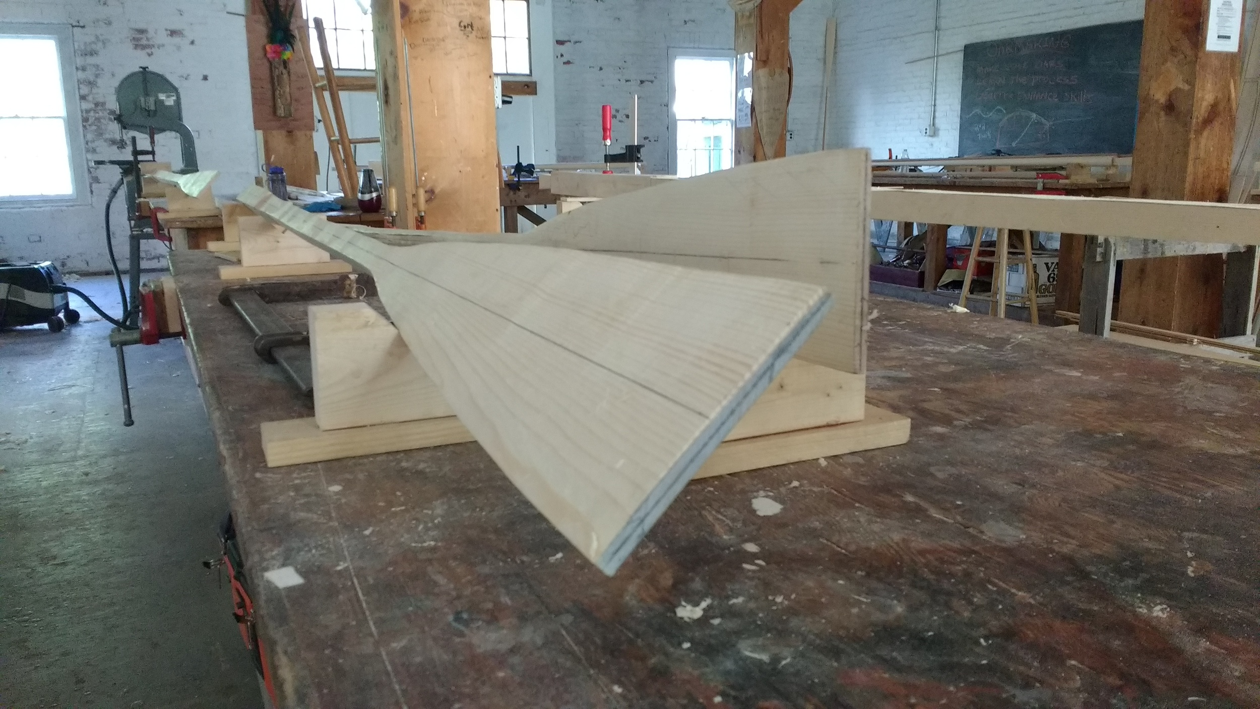 Sleeping oars at the 4-sided, tapered phase after class on day 2.