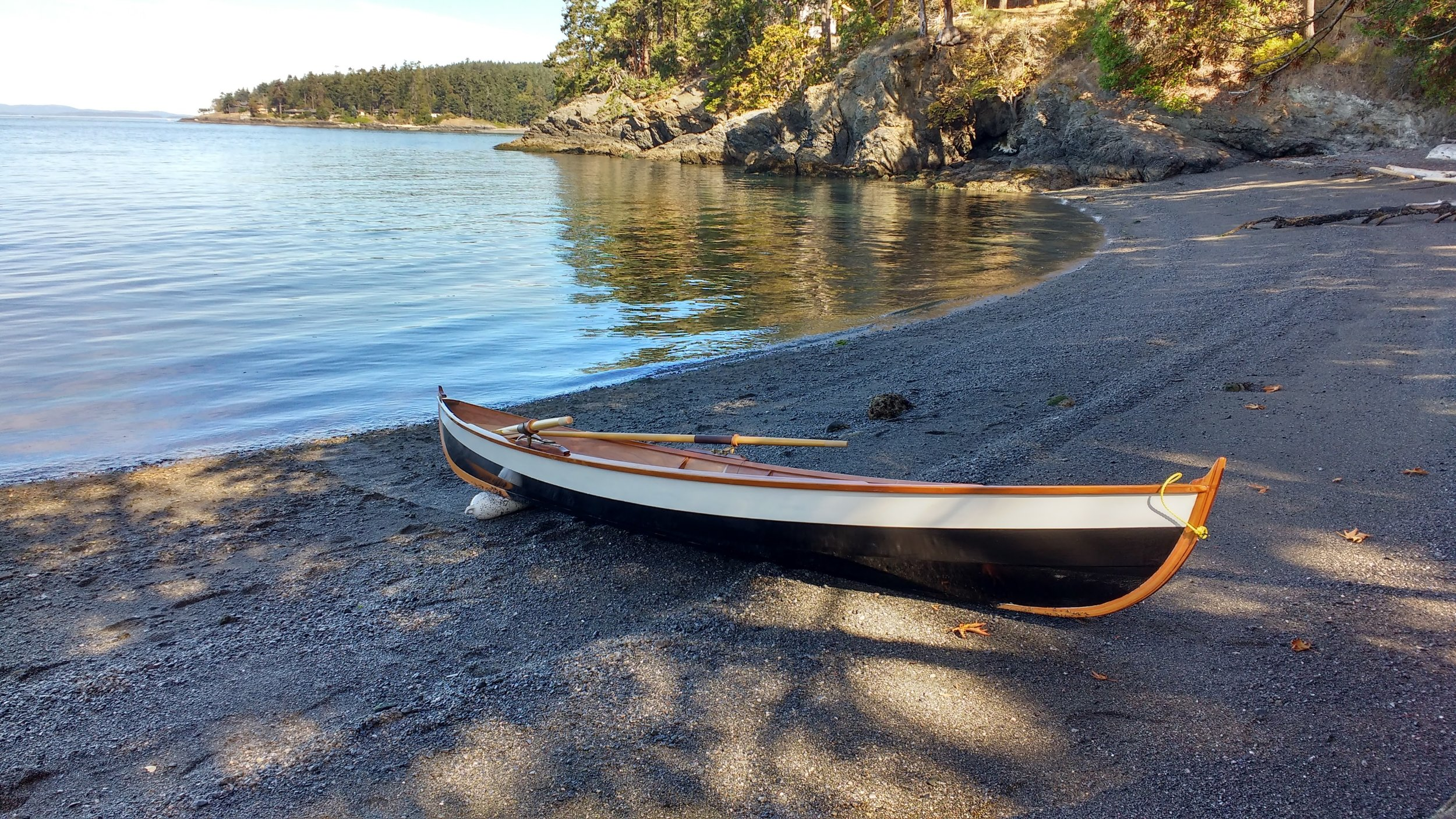 The Drake 17 Rowboat after a great day.