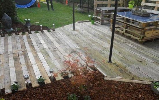 Wooden pallet deck from Pinterest
