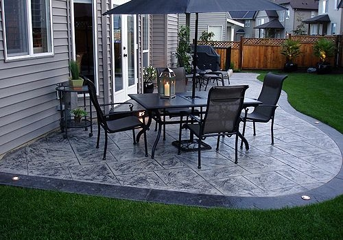 Stamped concrete patio from Pinterest