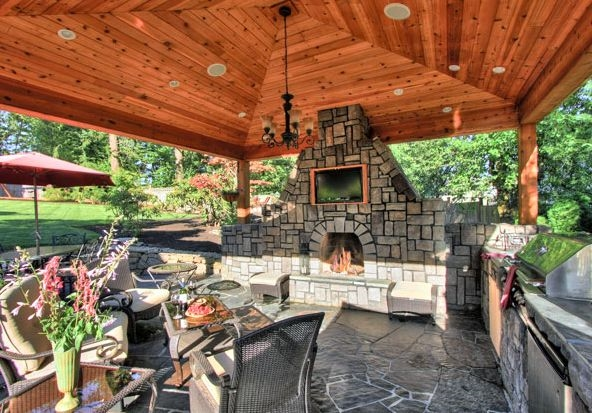 Fill out the form below so that we can get started on creating one of a kind products for you, like this stunning outdoor fireplace!