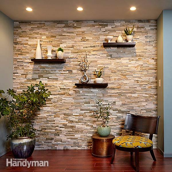 Faux Stone Accent Wall