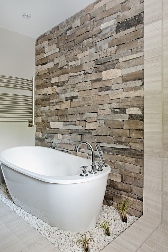 Natural Stone Bathroom Wall