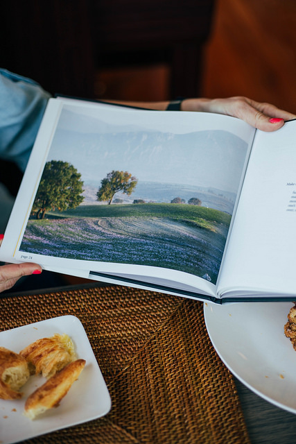 Crocus fields in Greece from  Art of the Harvest  by Claire Cheney