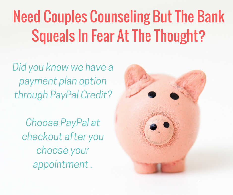 Payment plans for marriage counseling in Tulsa, OK and Oklahoma City, OK