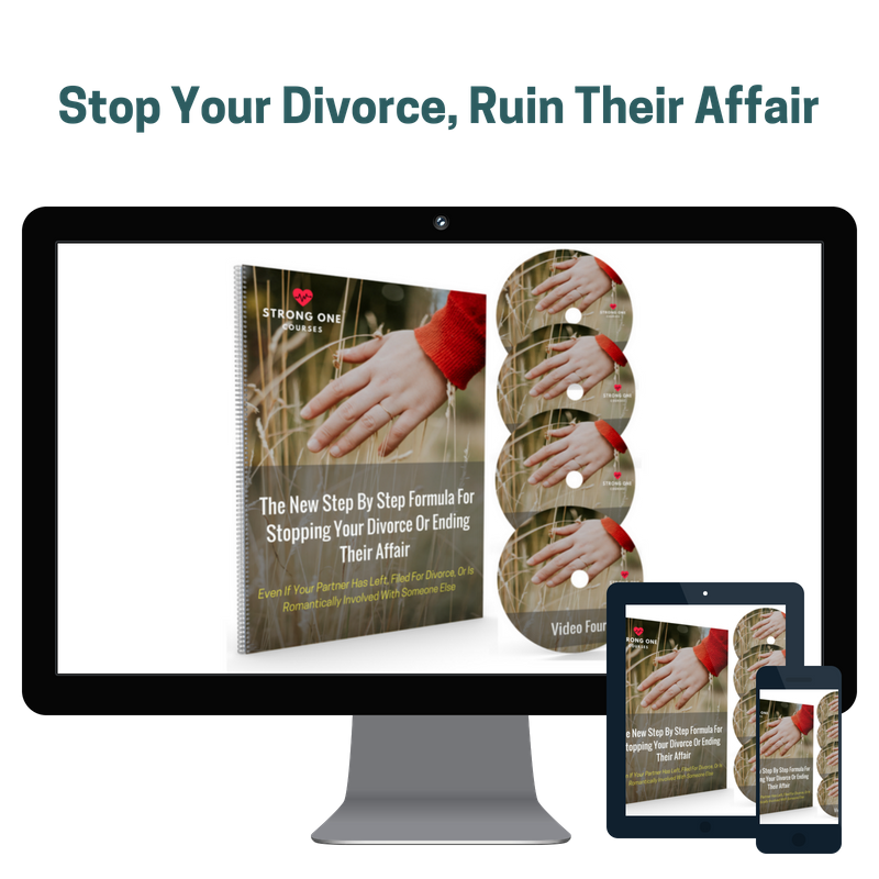 Stop Your Divorce, Ruin Their Affair - This program is for individuals in a situation where their partner has filed for divorce or left for the affair partner. This partner has physically and emotionally left the relationship but there is some contact. This program offers useful strategies for re-engaging a distant partner. Once you win them back then you'll want to set up counseling or coaching.Only $397 Available As Immediate Download Only