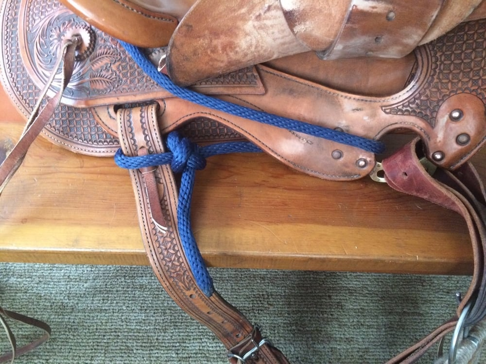 One common way to rig a western saddle.