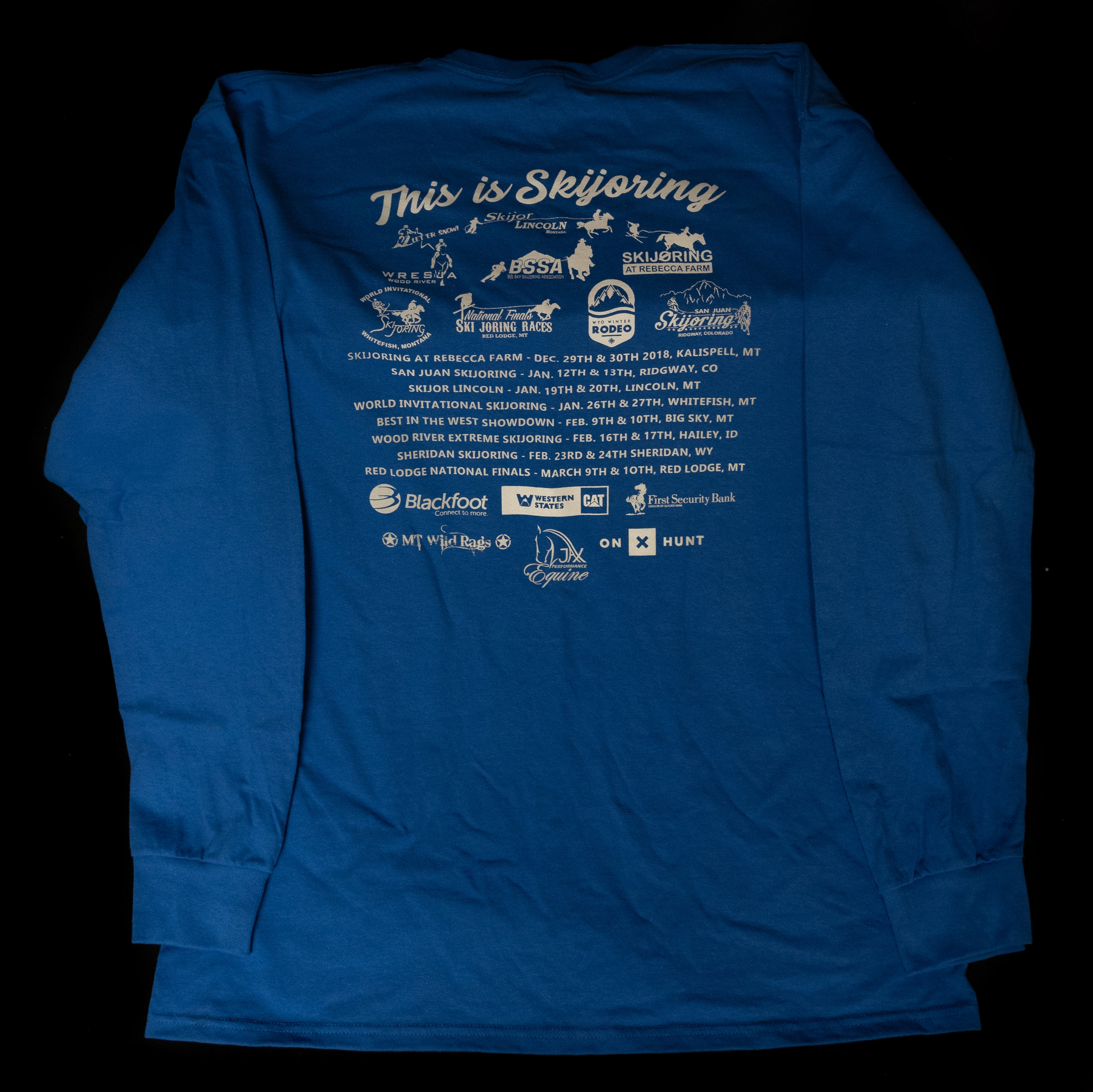 Back Side of the Skijoring America Shirts