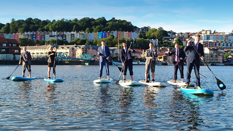 SmithCorp training paddleboarding