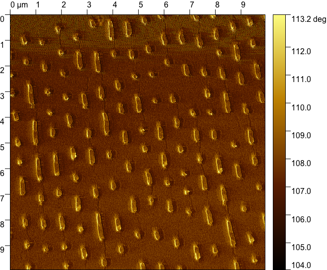 Corresponding phase image of a DVD.