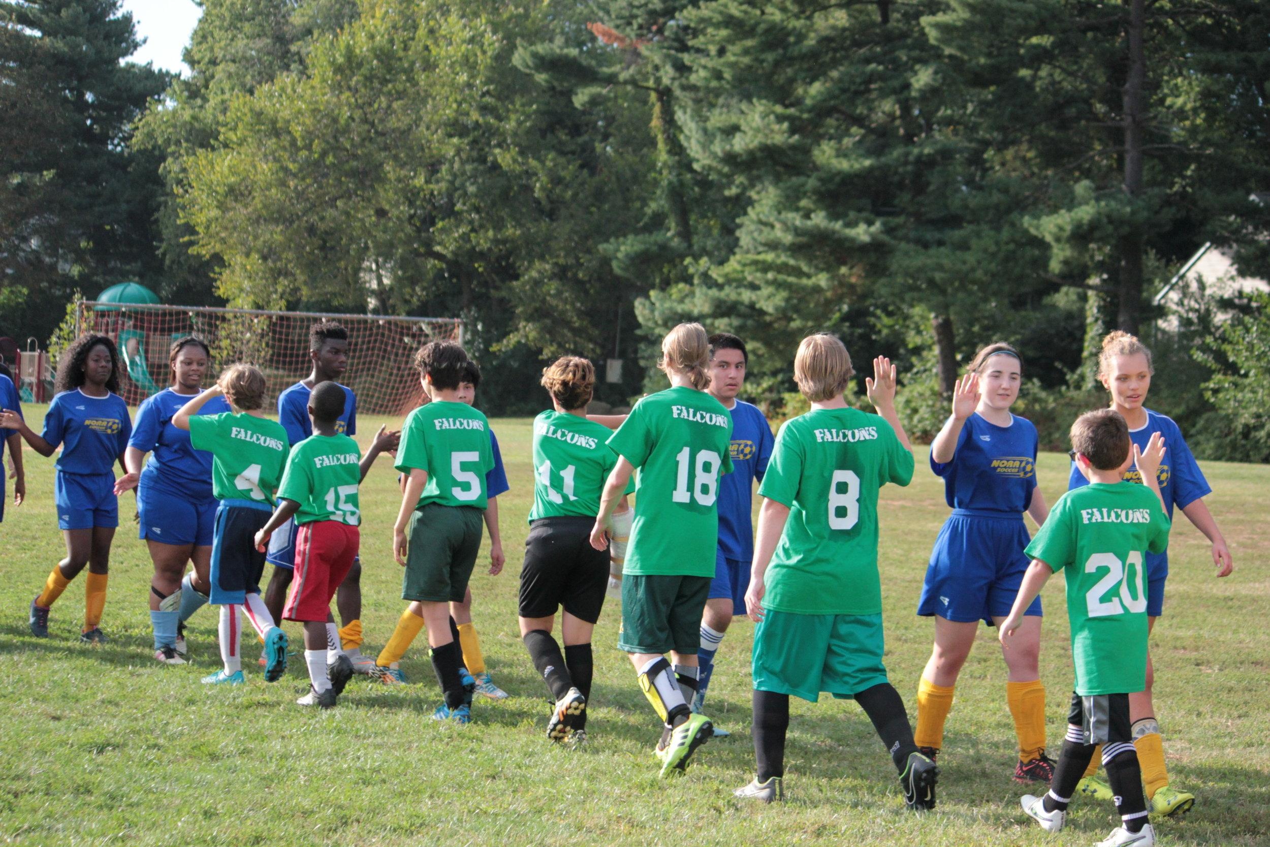 Our athletics program focuses on teamwork, sportsmanship and resilience above all else.