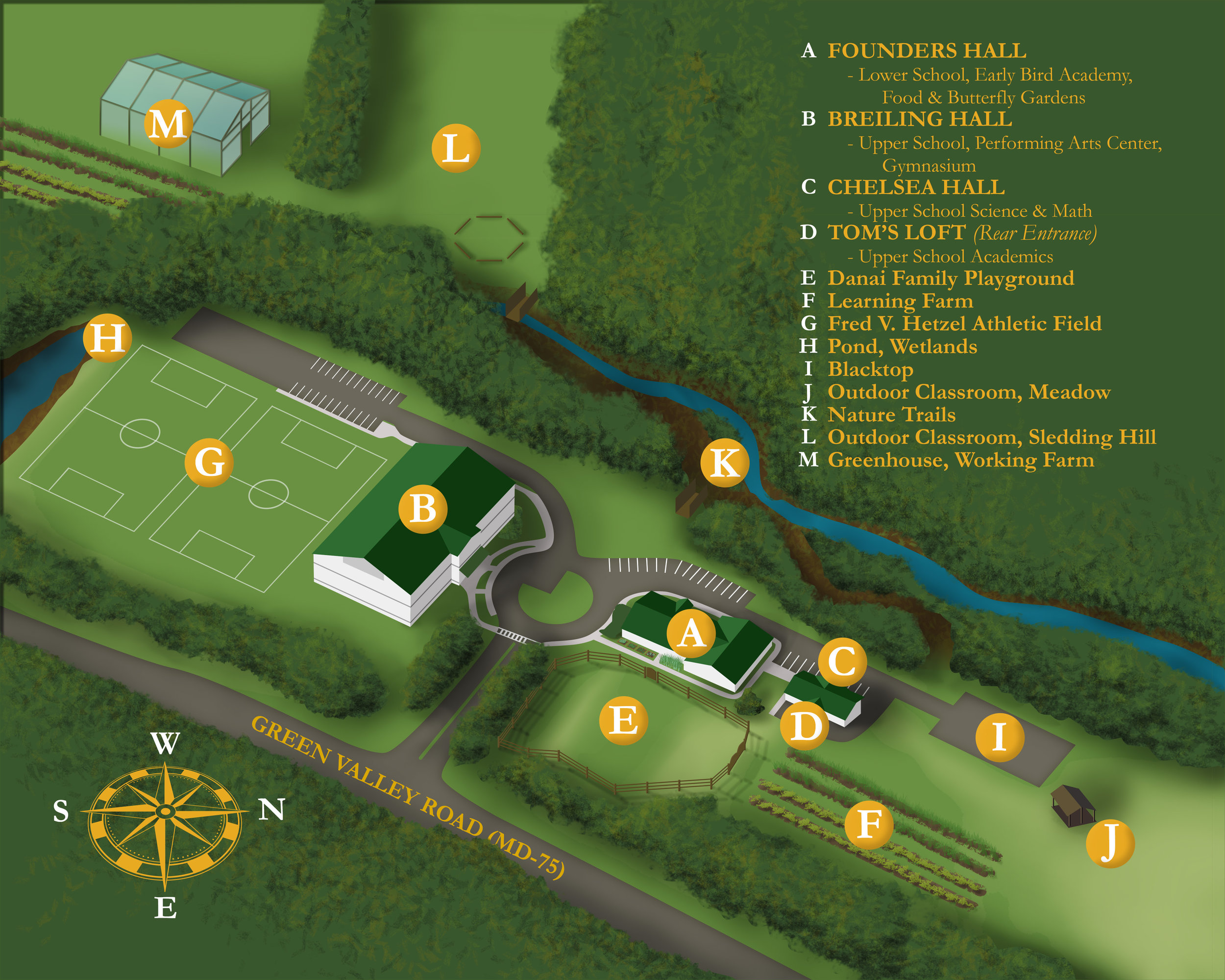 Click to Enlarge.   Our 50 acres offer plenty of room to explore!