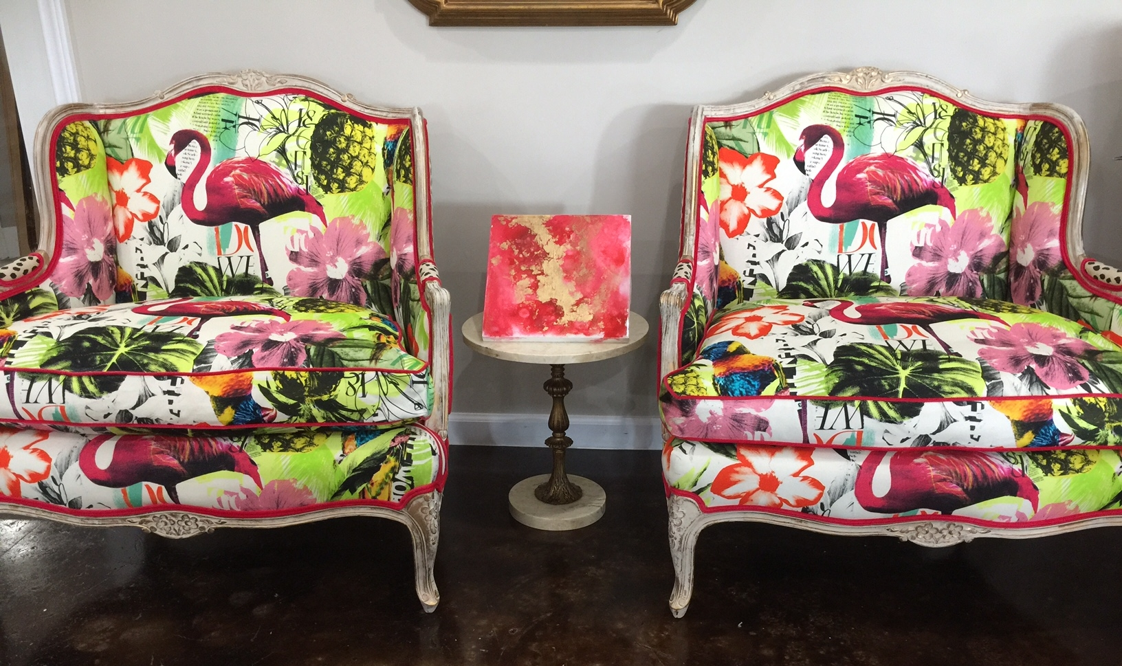 Antique Bergere Flamingo Chairs- $3,200.00