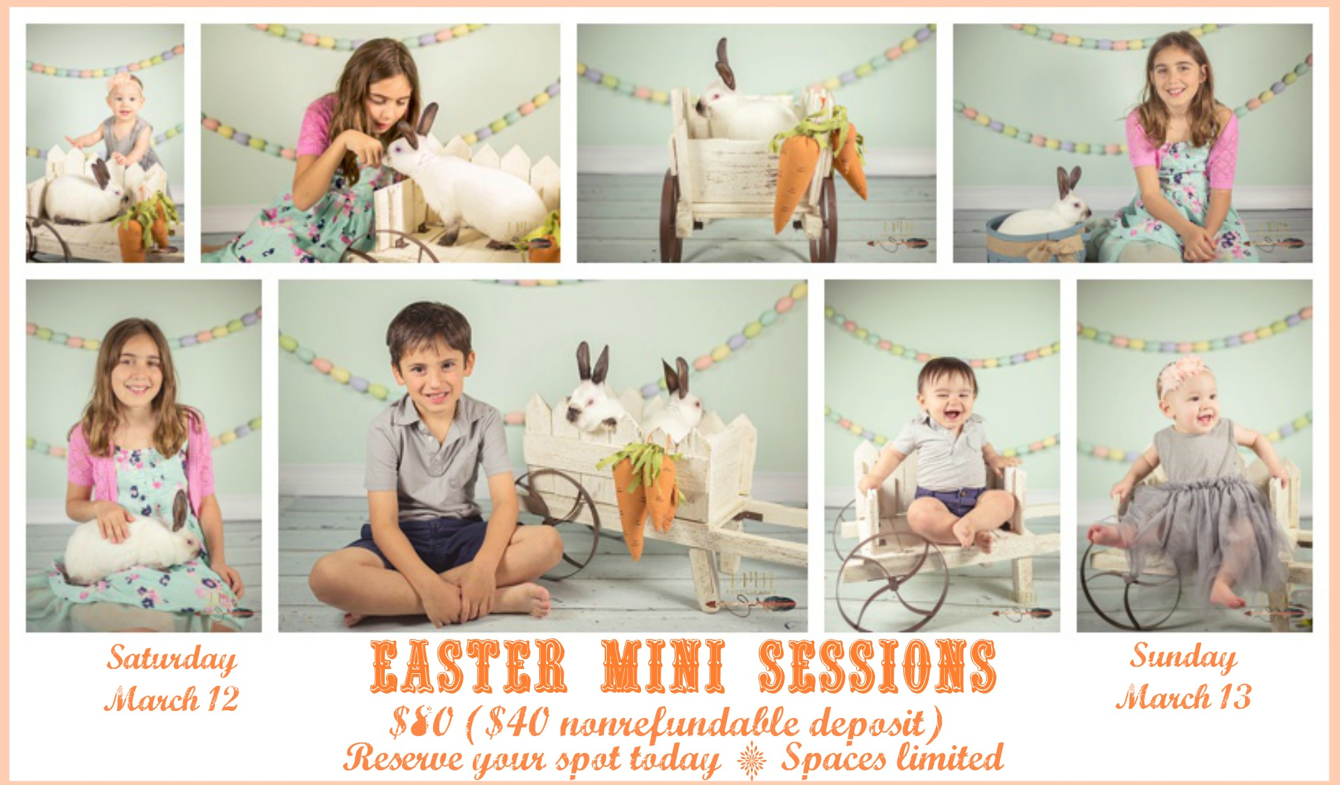 Spring, Katy, Cypress, Tomball, Waller, Houston Easter Bunny Mini Sessions