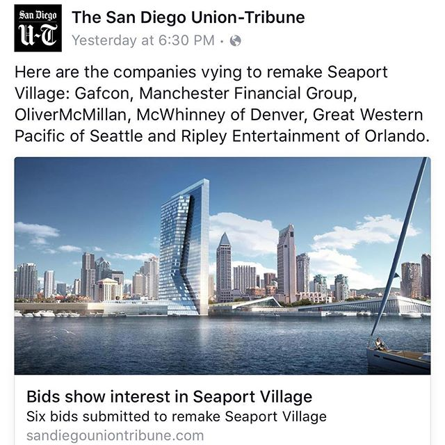 And so it begins....... #historic #seaportvillage #sandiegobay #california #saveseaportvillage #saveseaport #visitsandiego2016