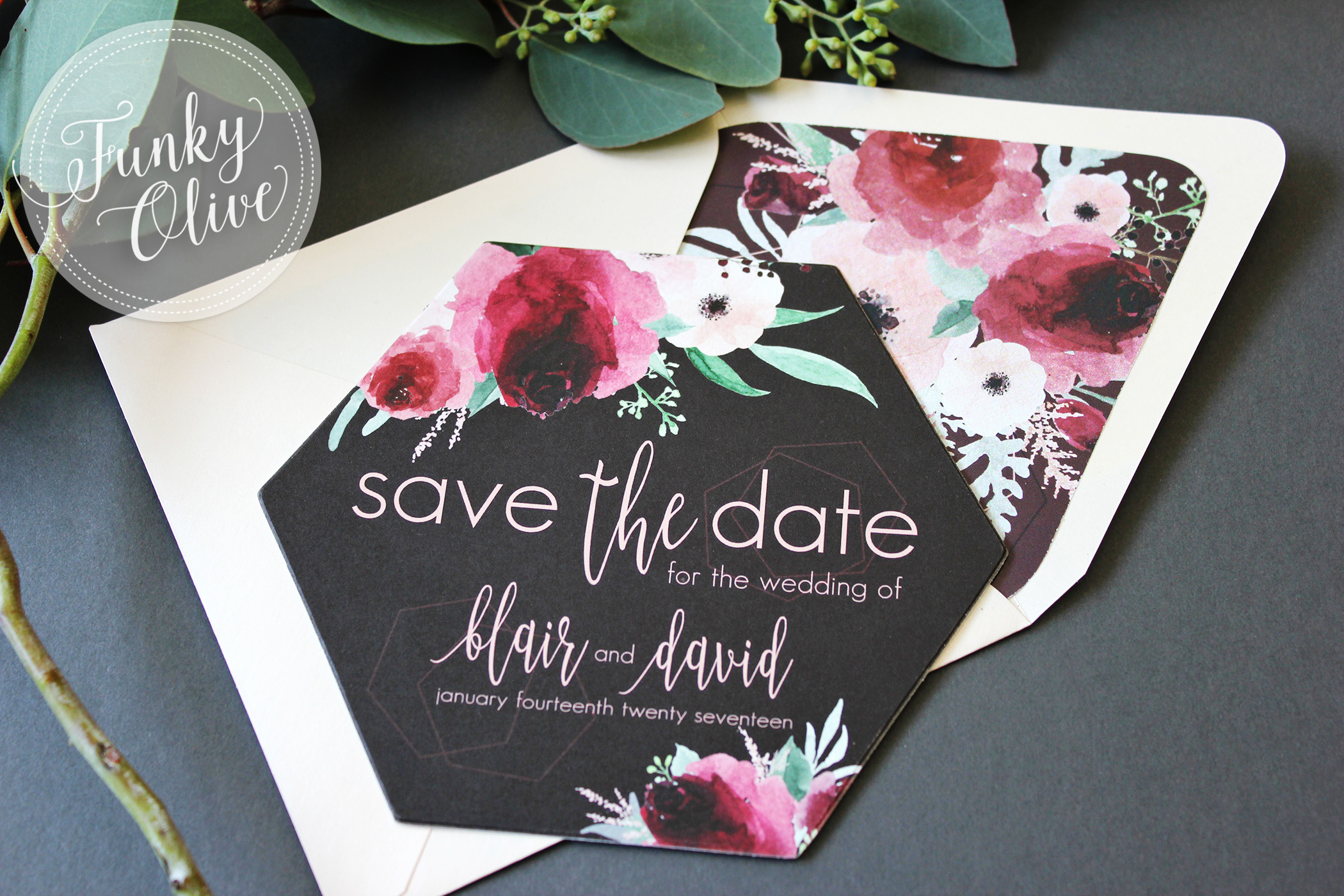 Geometric Boho Save the Date