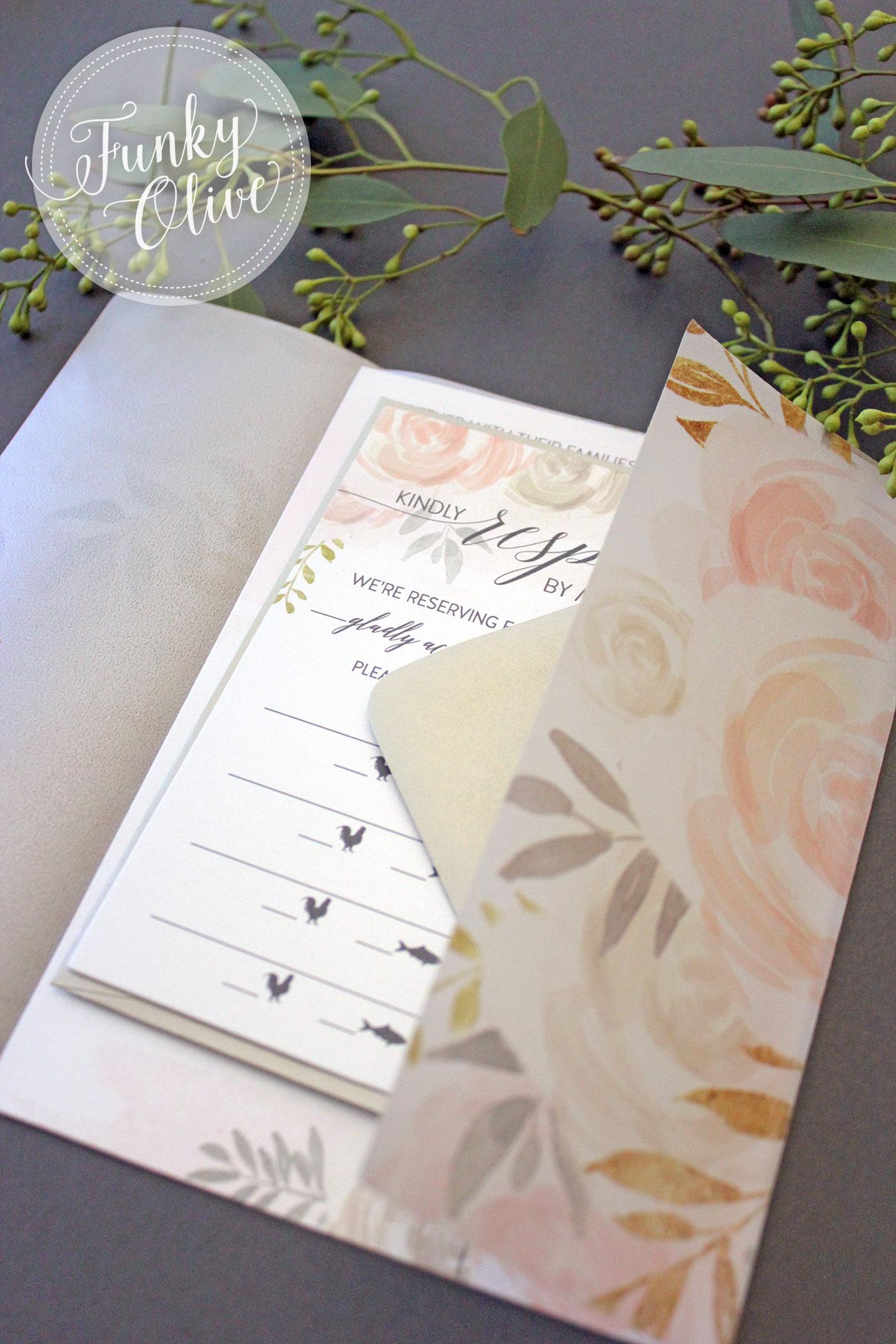 Vellum Wrap Invitation Opened