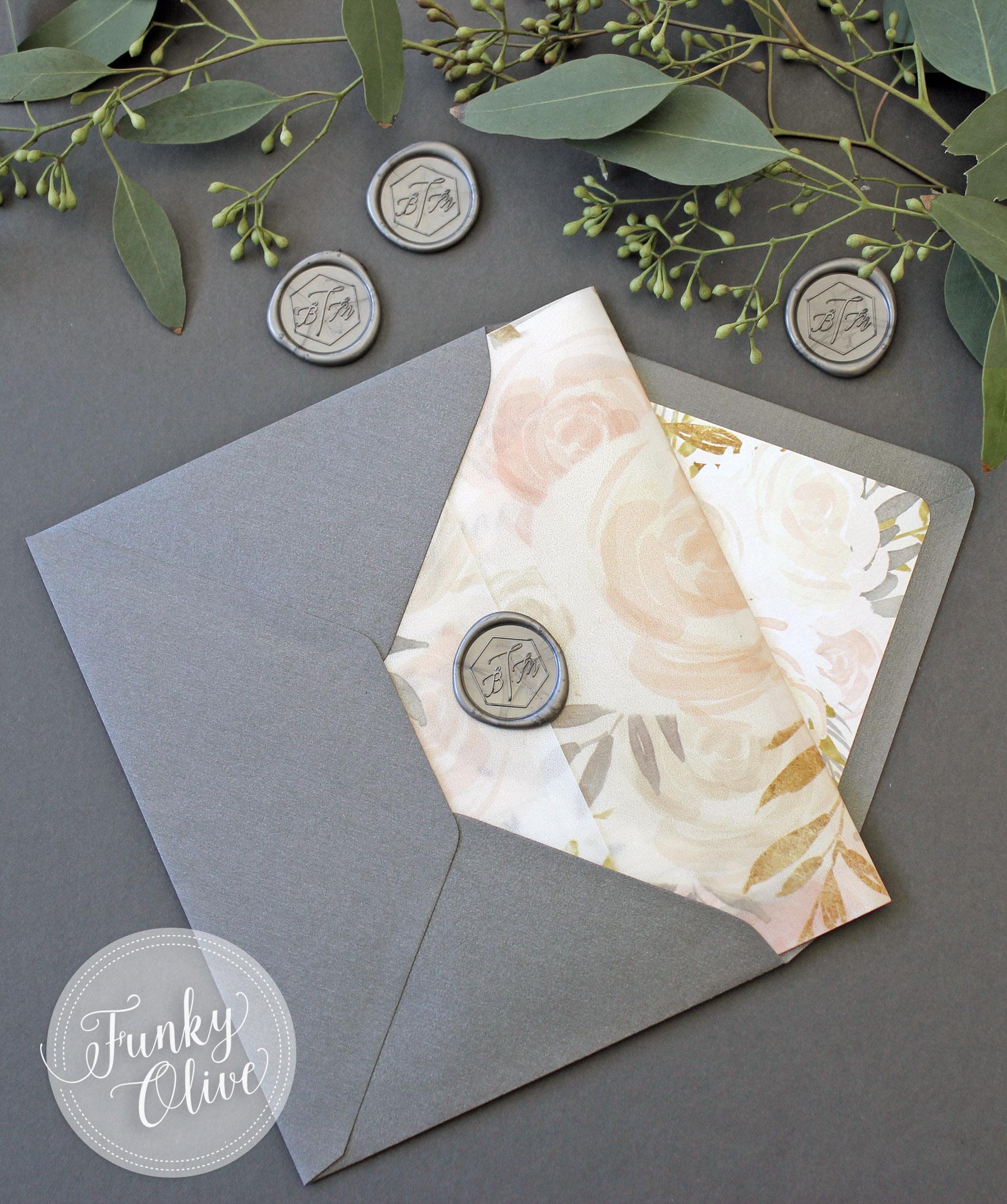 Vellum Wrap Invitation Wax Seal