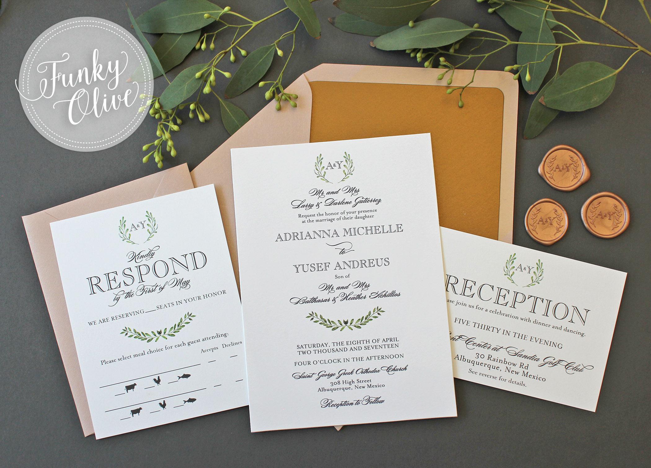 Greek Laurels Invitation Package