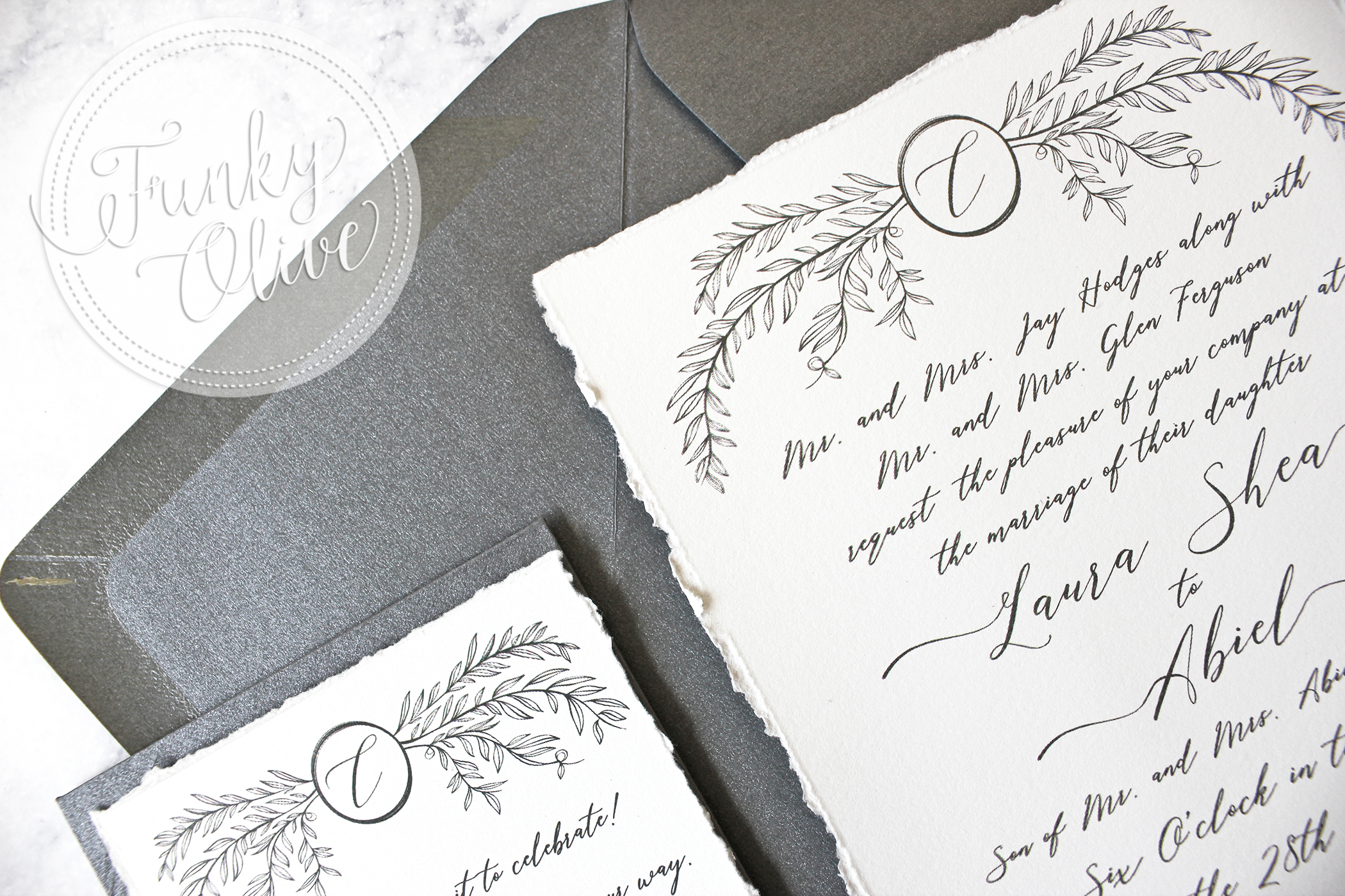 Deckled Edges - Hand torn in studio or hand made paper options available.