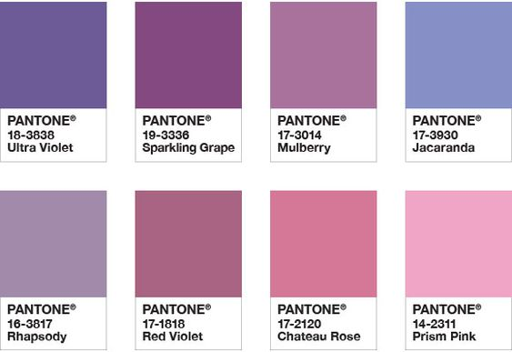 - Pro tip: Ultra Violet is a super versatile shade to pair. Virtually any neutral shade will make a good side-kick. Ultra Violet also looks fab when paired with rich shades like Navy or Burgundy especially for winter celebrations. We also LOVE a metallic match up with this shade. And we herby demand and also politely ask that you consider the 2017 Pantone pick (greenery) to make a debut with Ultra-Violet in the New Year too!