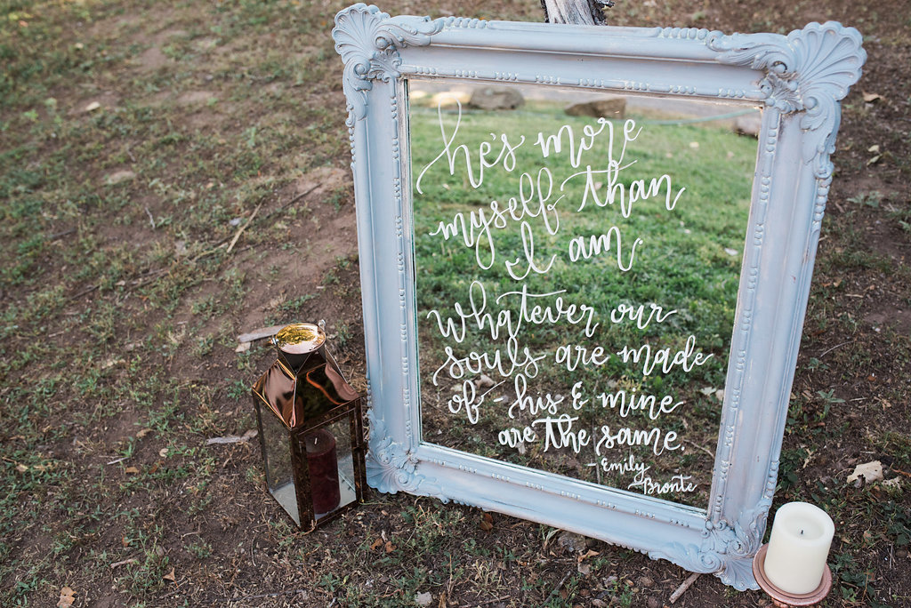 This hand lettered signage by Just Lovely gets us right in the heart!