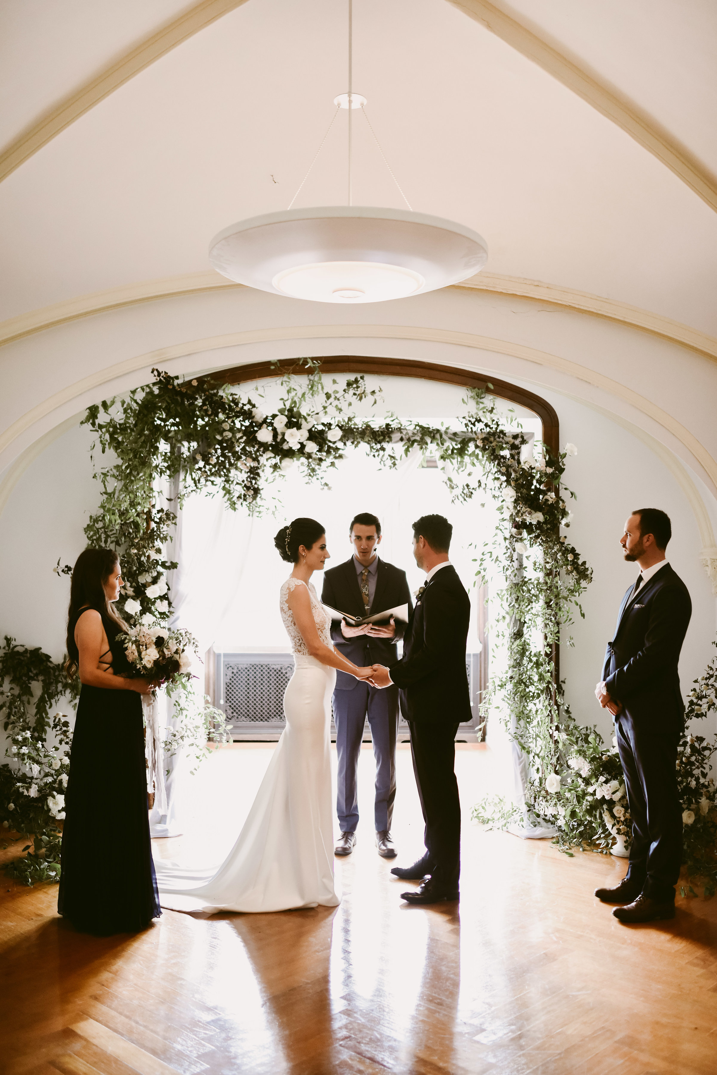 That ceremony space!!! That floral arch!!! So beautiful!