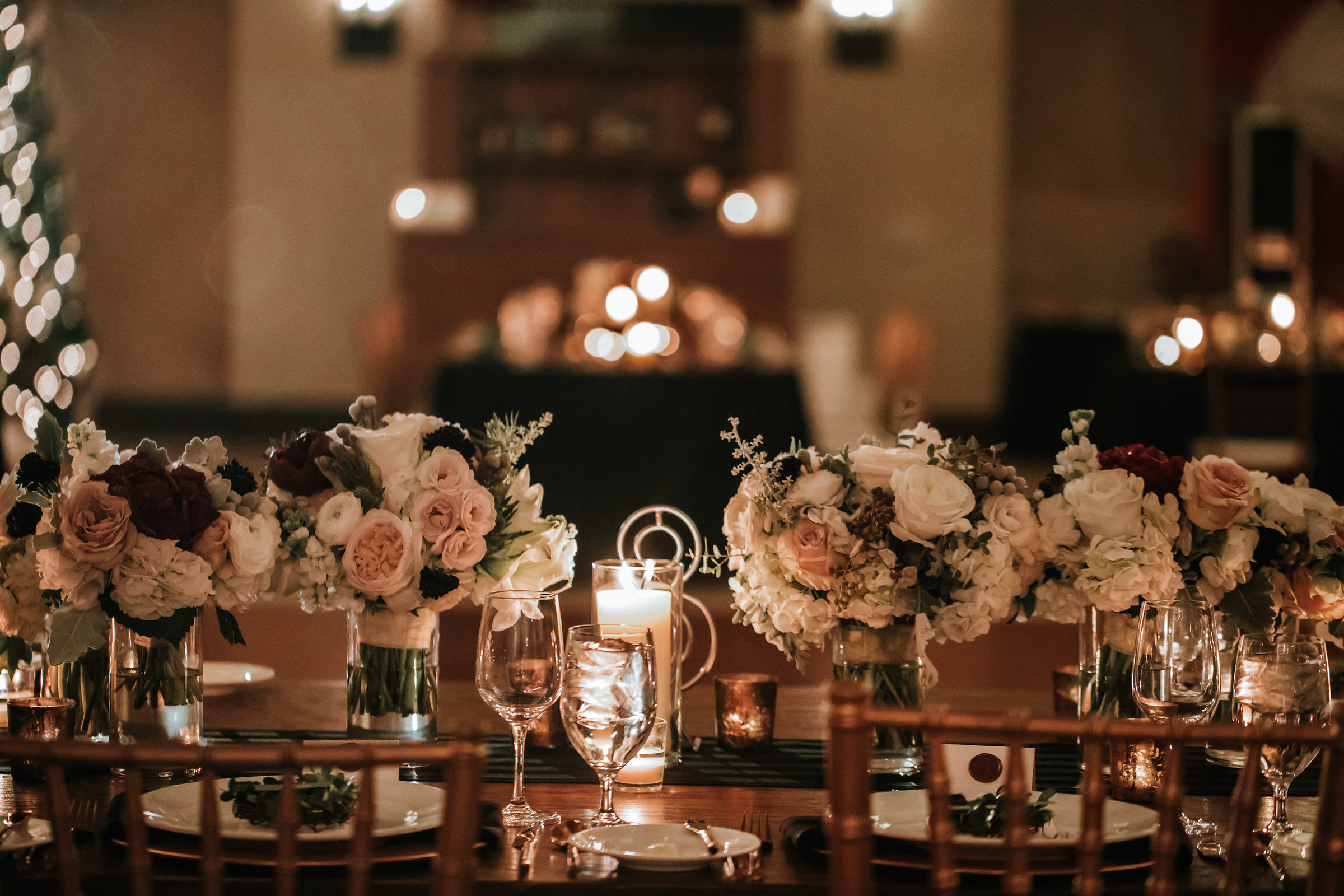 Beautiful table setting at Jamie + Kara's Wedding. Planning by the brilliant, and award winning planner Alena Swanson. www.alenaswanson.com photo by    Emily Joanne Photography   .