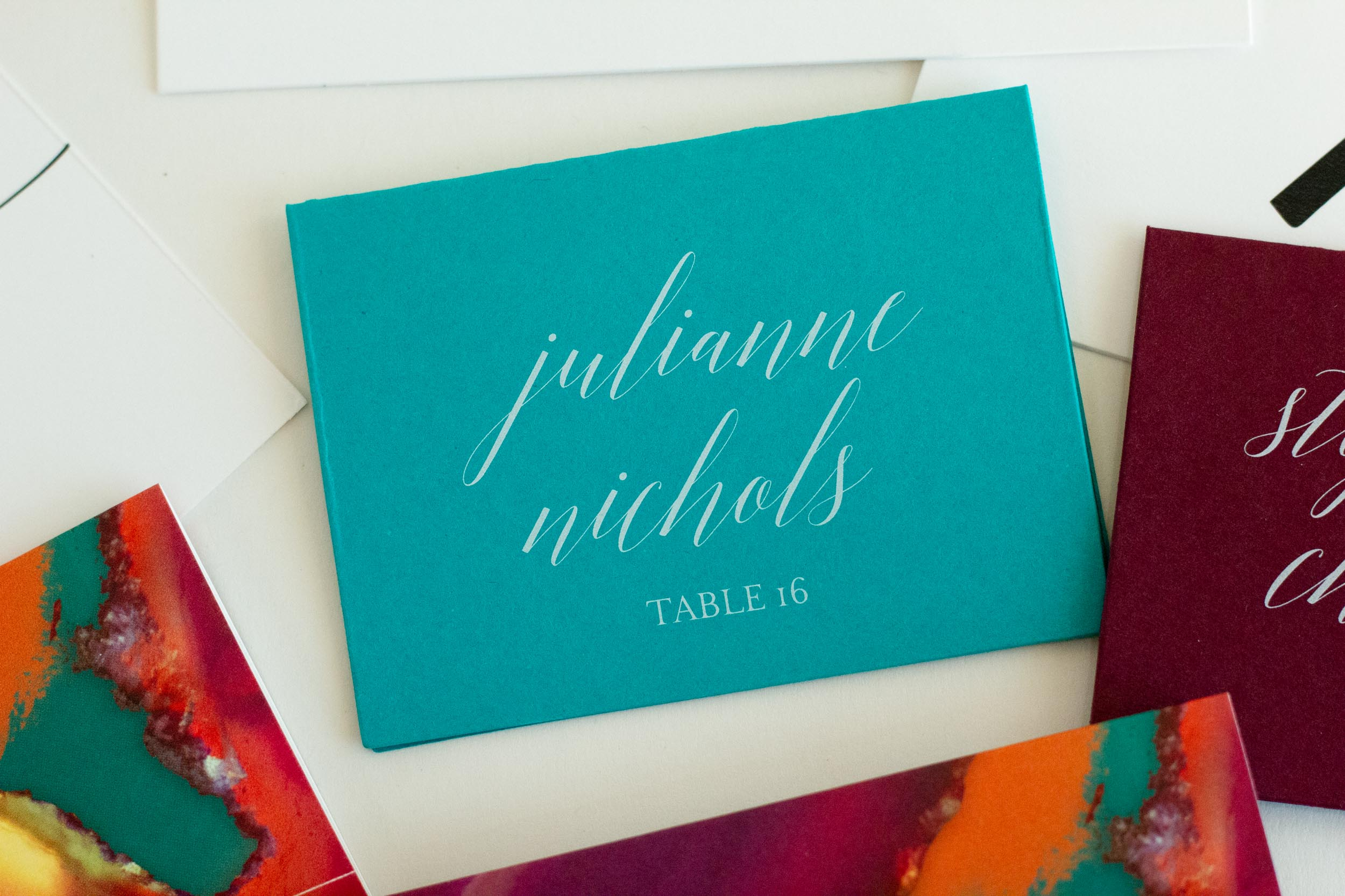 BOLD COLORFUL WHITE INK PLACE CARDS-4.jpg